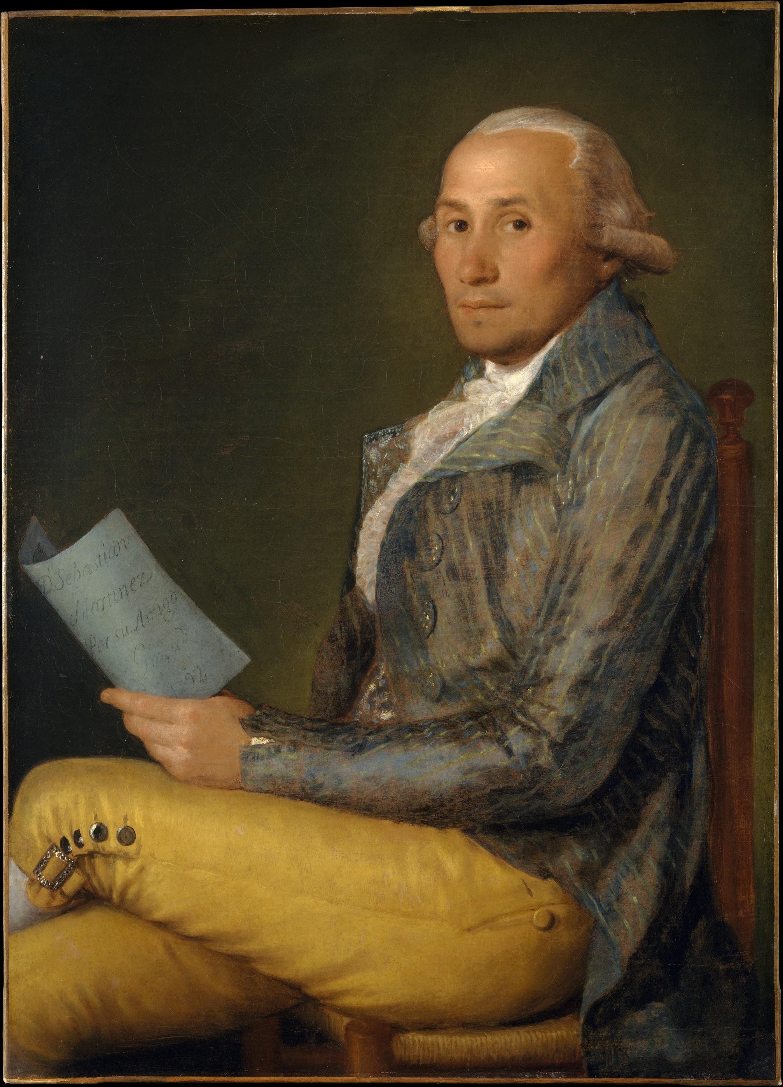 'Sebastián Martínez', retrato de Francisco de Goya del comerciante de Cádiz, conservado en el Metropolitan Museum de Nueva York.
