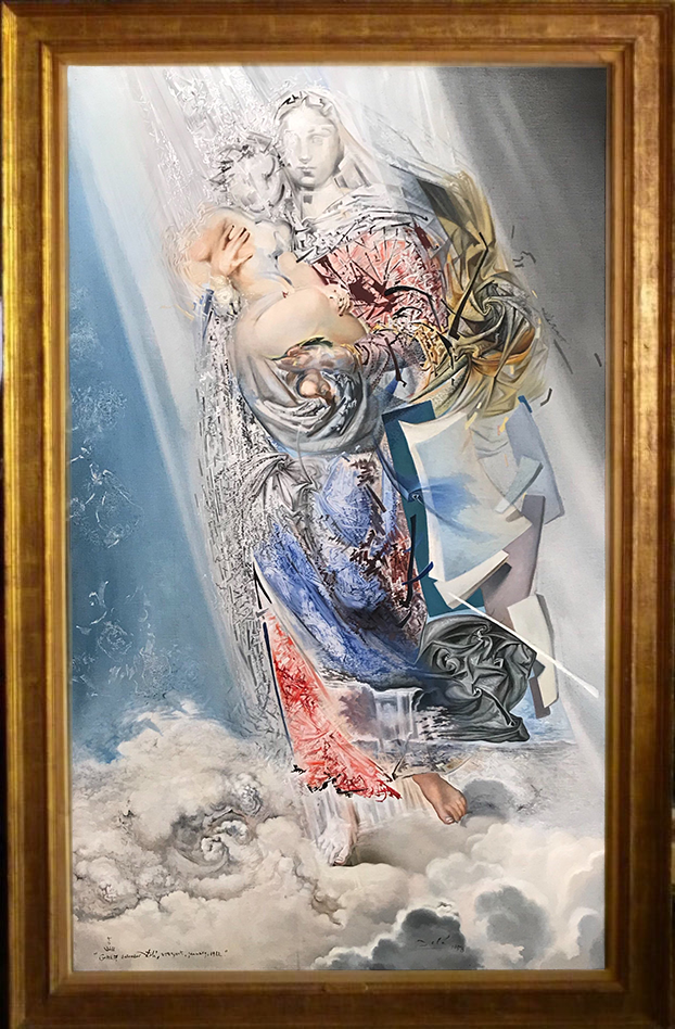 First color photograph of 'Cosmic Madonna', painted by Dalí in 1958 that goes on sale.
