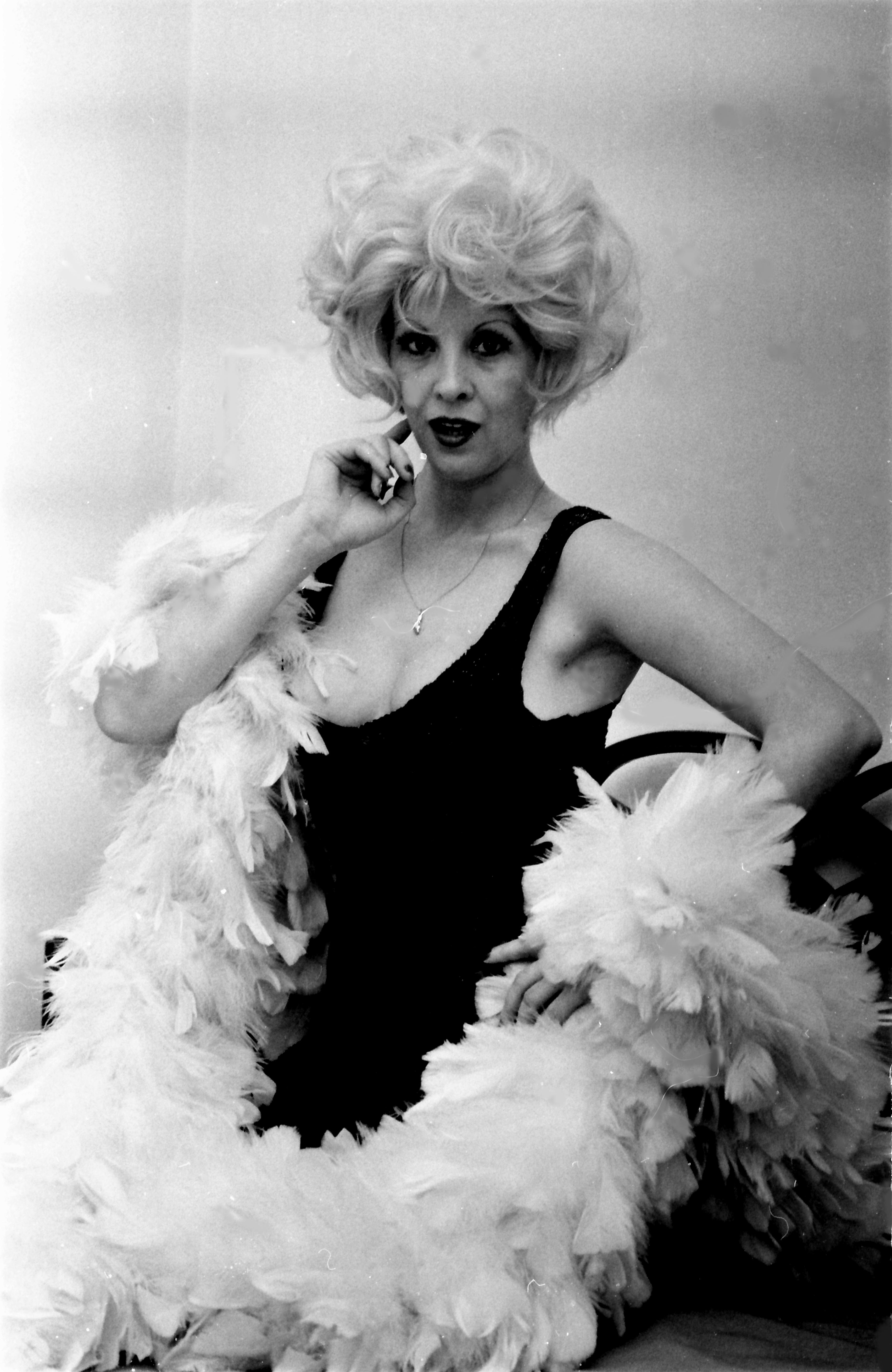 La actriz Libertad Leblanc, durante una sesión de fotos en 1978.