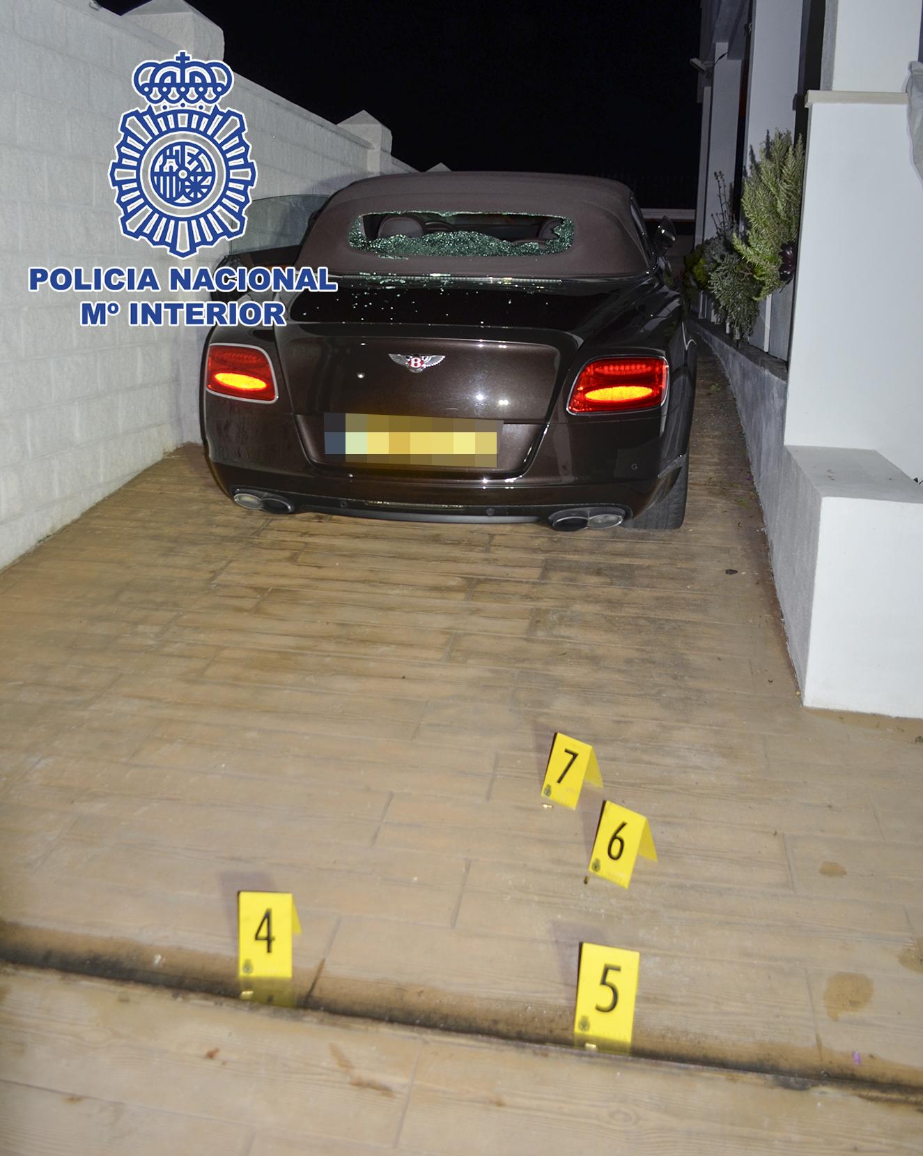 Escena del crimen en Marbella que se achaca a la banda de sicarios.