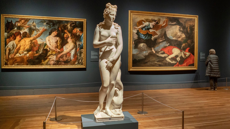 Visita de la exposición de 'Pasiones mitológicas' en el Museo del Prado.
