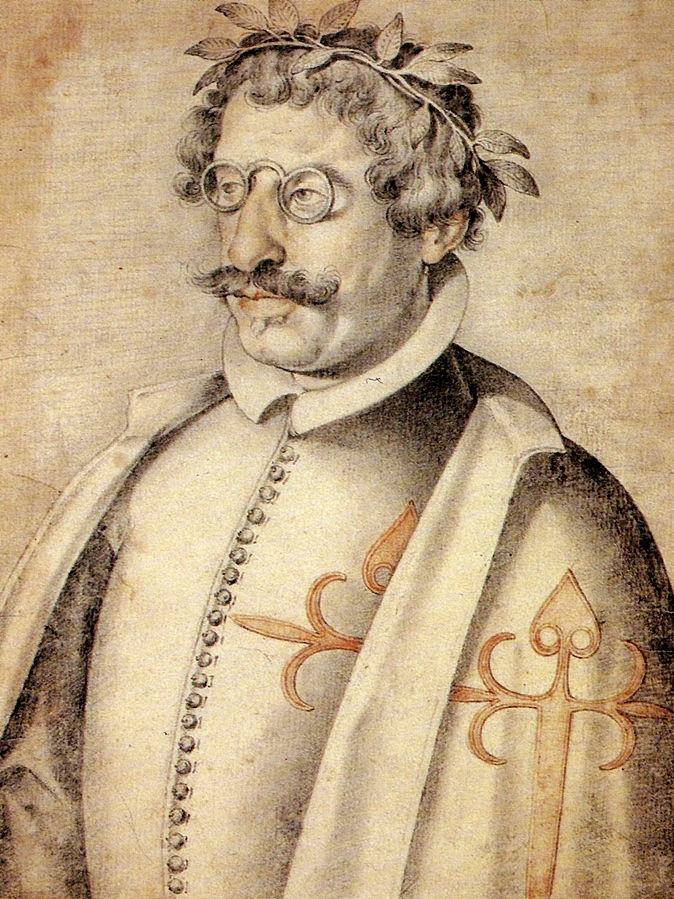 Quevedo, tras ingresar en la Orden de Santiago, pintado por Pacheco.