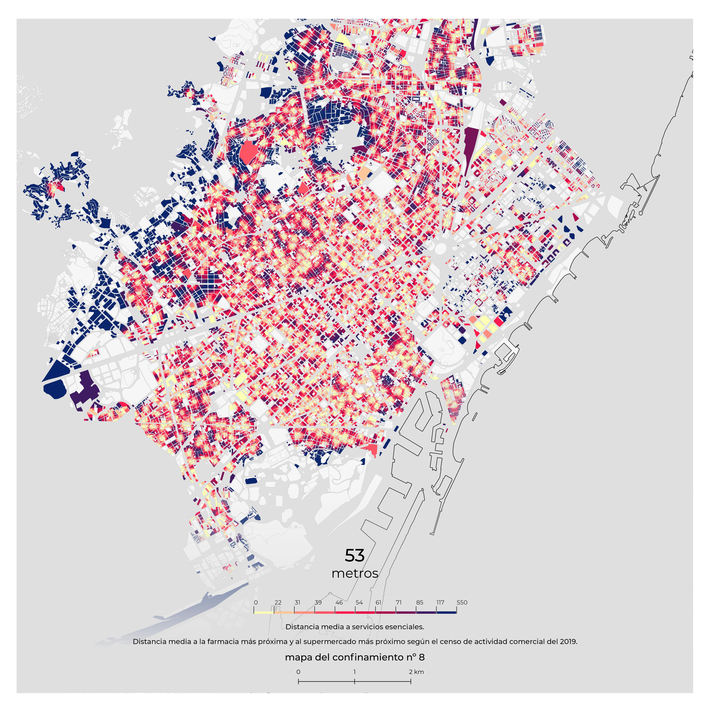 Barcelona En El Mapa.Coronavirus El Confinamiento En Barcelona Sobre El Mapa Cataluna El Pais