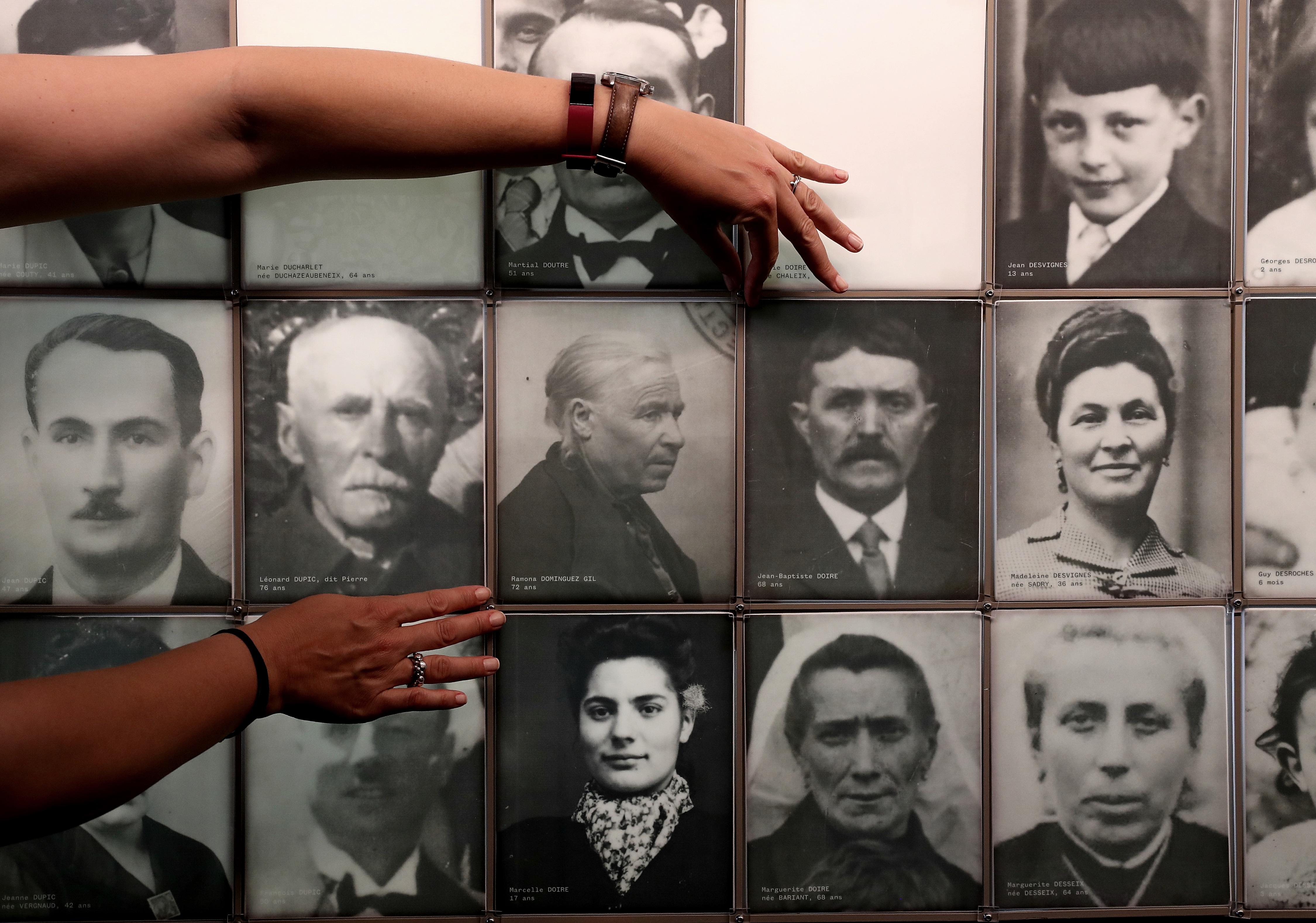 08/06/21. (DVD 1057)  Acto de reconocimiento como victima de la española Ramona Dominguez Gil en la matanza ocurrida en el pueblo frances de Oradour-sur-Glane, donde el 10 de Junio de 1944 fueron asesinadas por los nazis 643 personas. Jaime Villanueva.