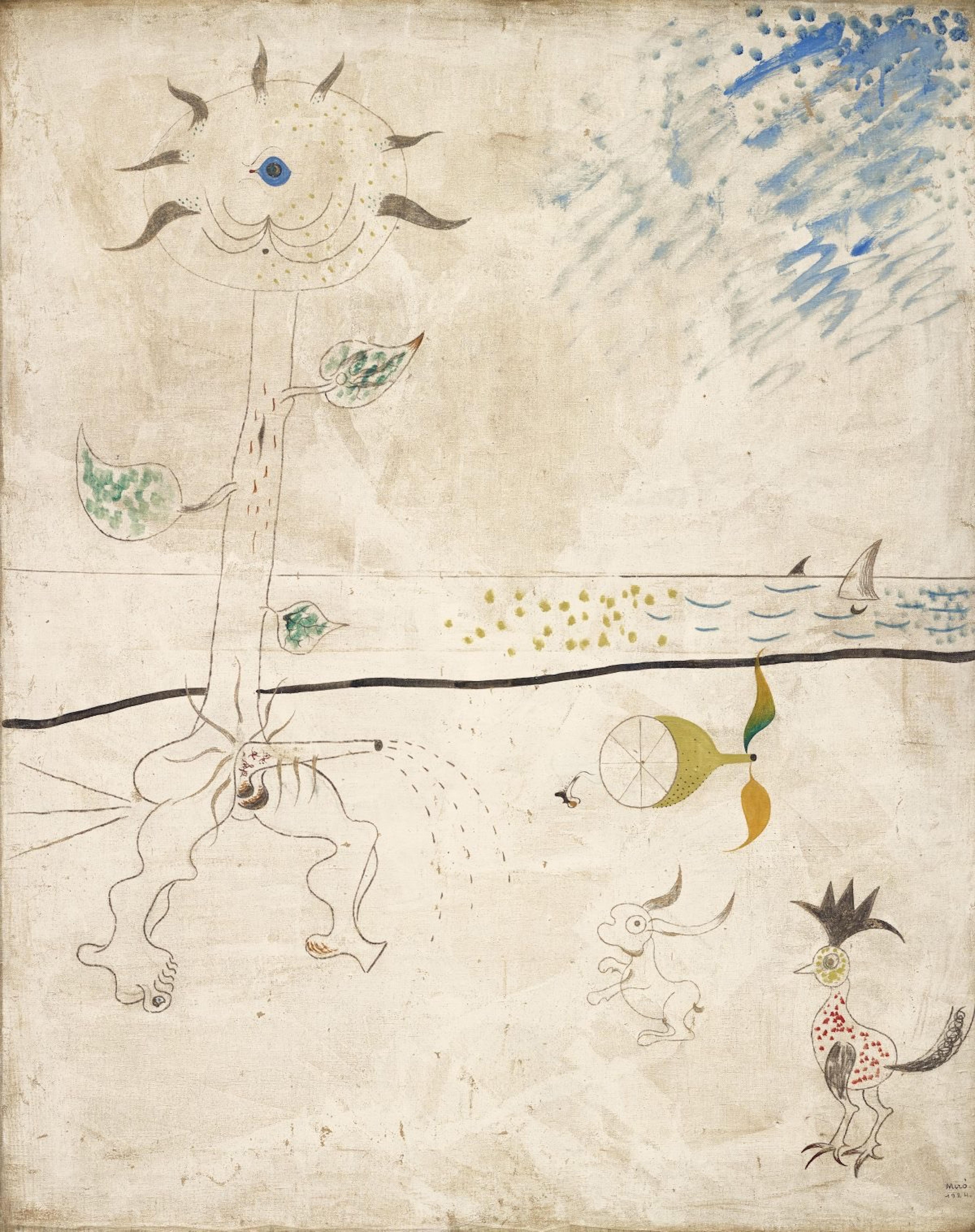 'Le Piège', óleo sobre lienzo de 92 x 73 centímentros pintado por Joan Miró en 1924.