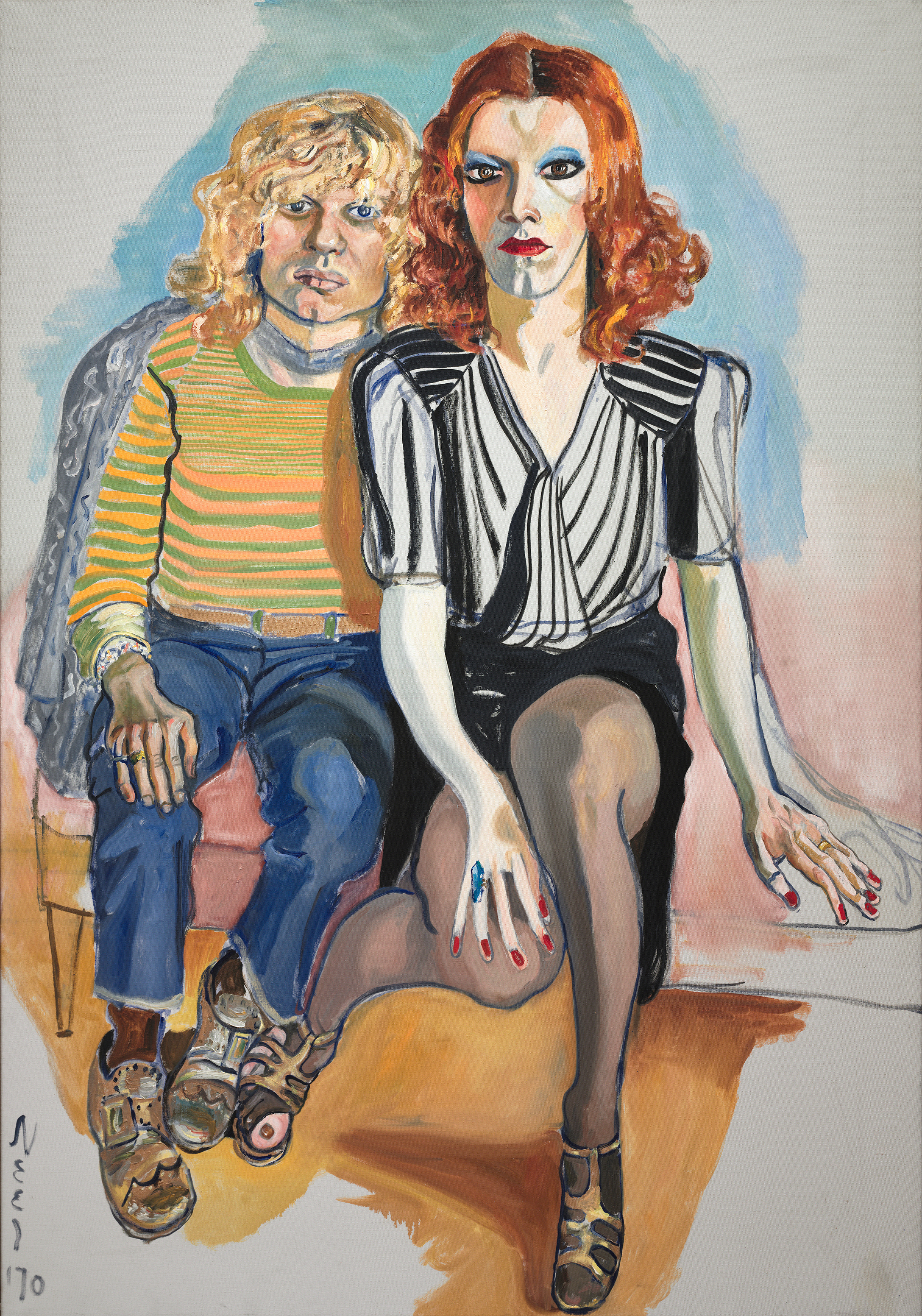 Alice Neel-Jackie Curtis and Ritta Redd, 1970