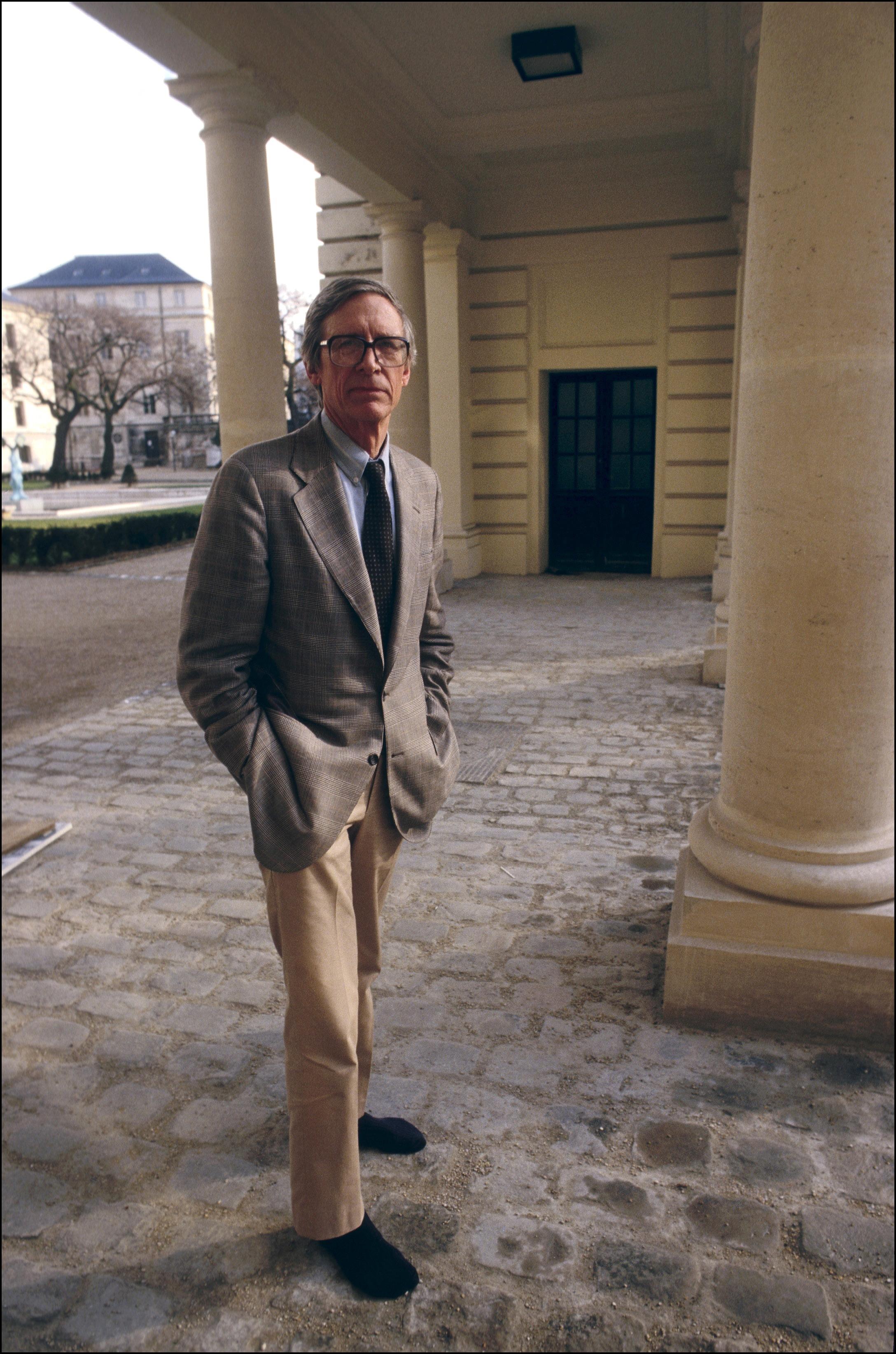 John Rawls, fotografiado en 1987 en París.