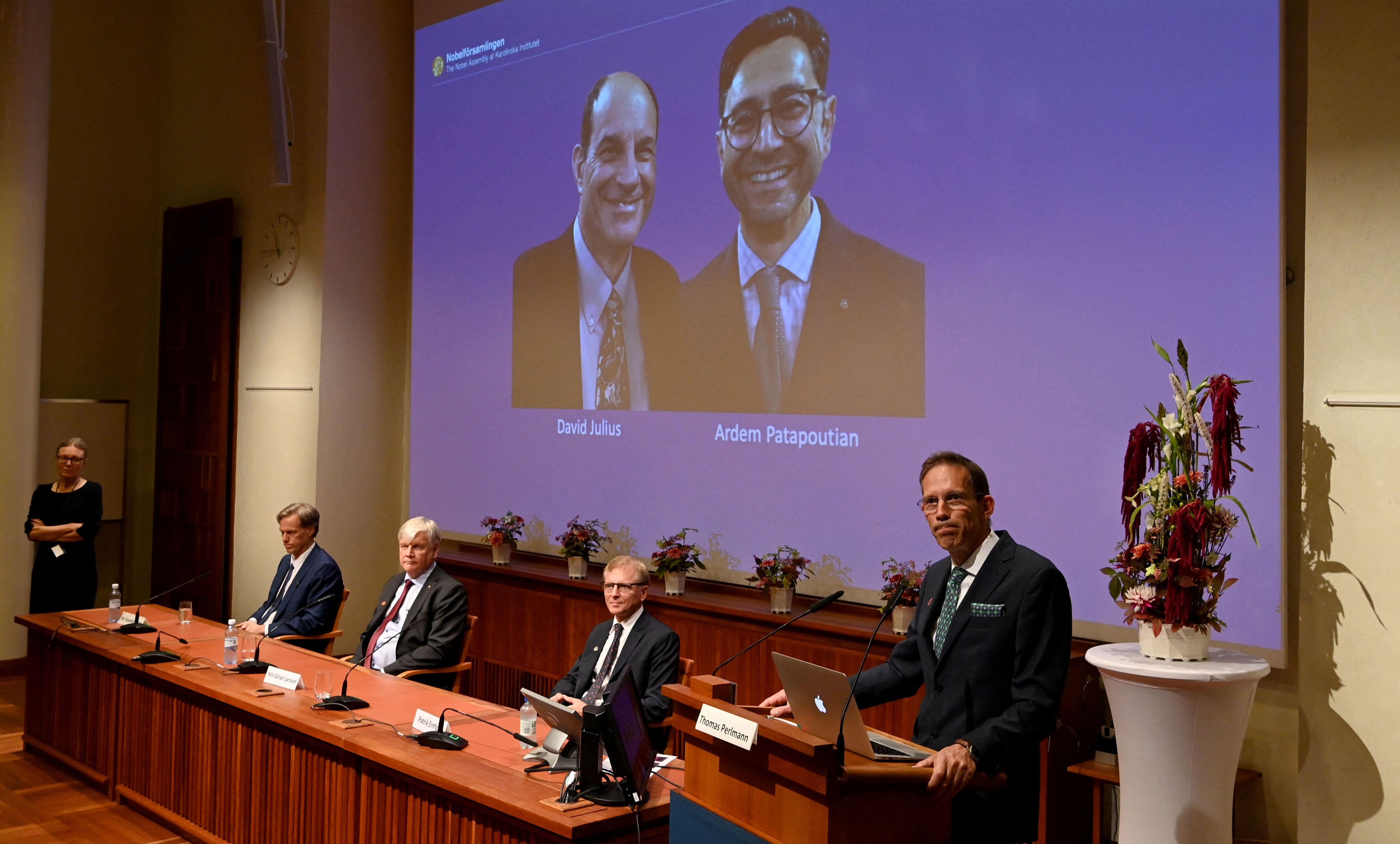 """Premio Nobel de Medicina para David Julius y Ardem Patapoutian por """"los receptores de la temperatura y el tacto"""""""