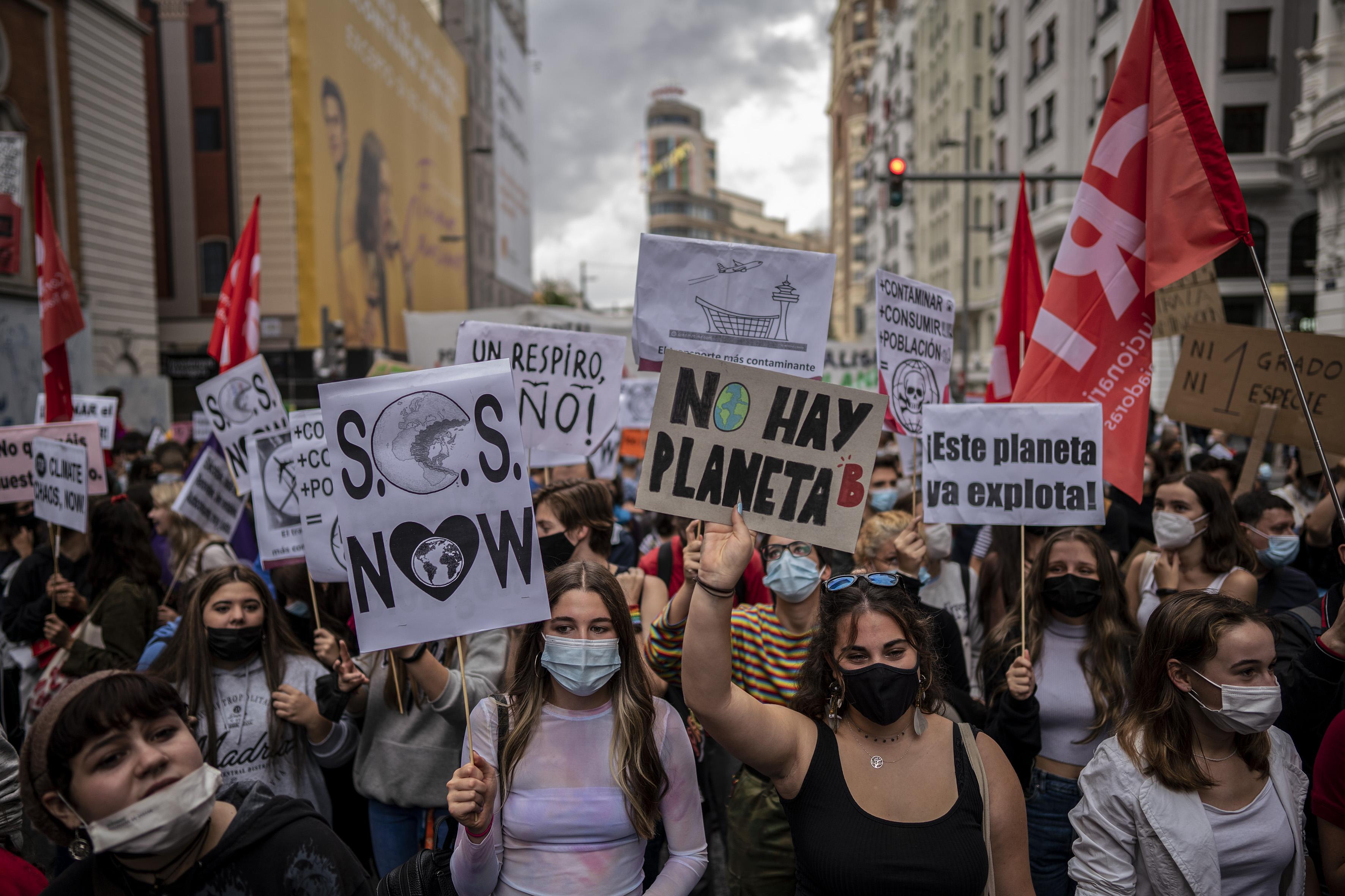 """""""La lucha sigue"""": los jóvenes retoman las protestas contra la crisis climática"""