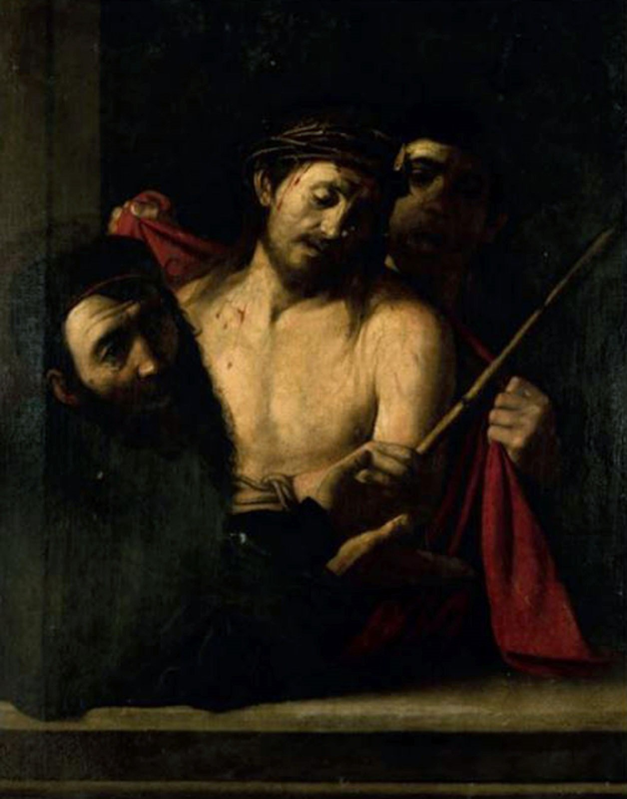 Detalle del 'Ecce homo' que podría ser atribuido a Caravaggio.