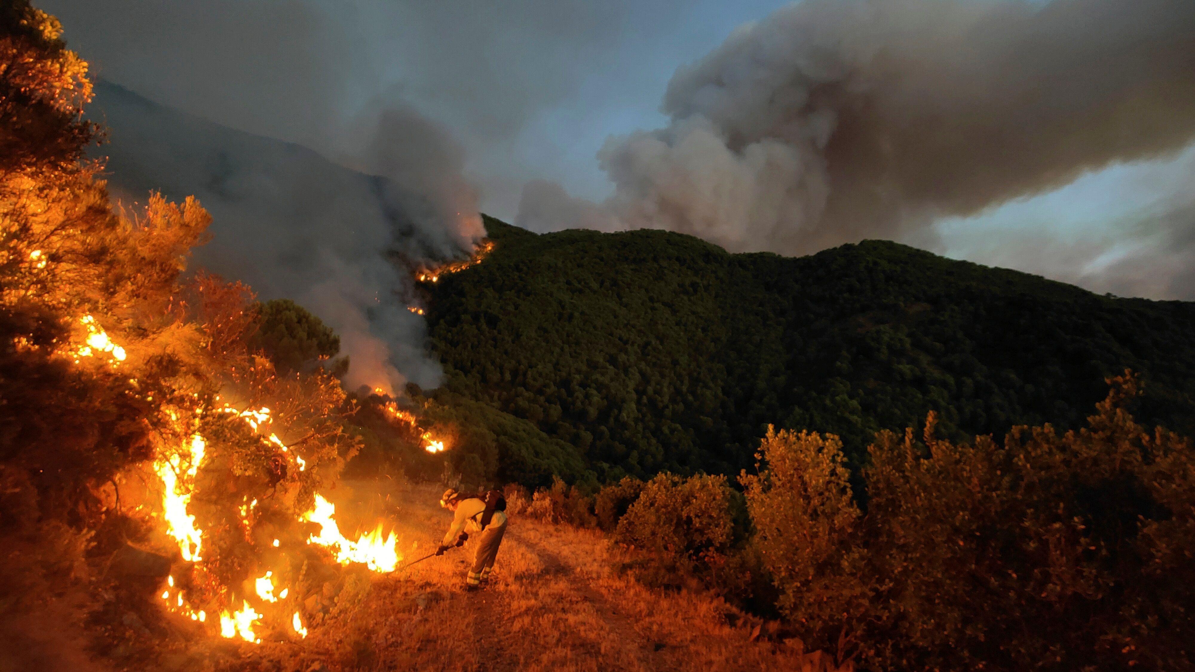 El juzgado declara secreta la investigación del incendio de Sierra Bermeja