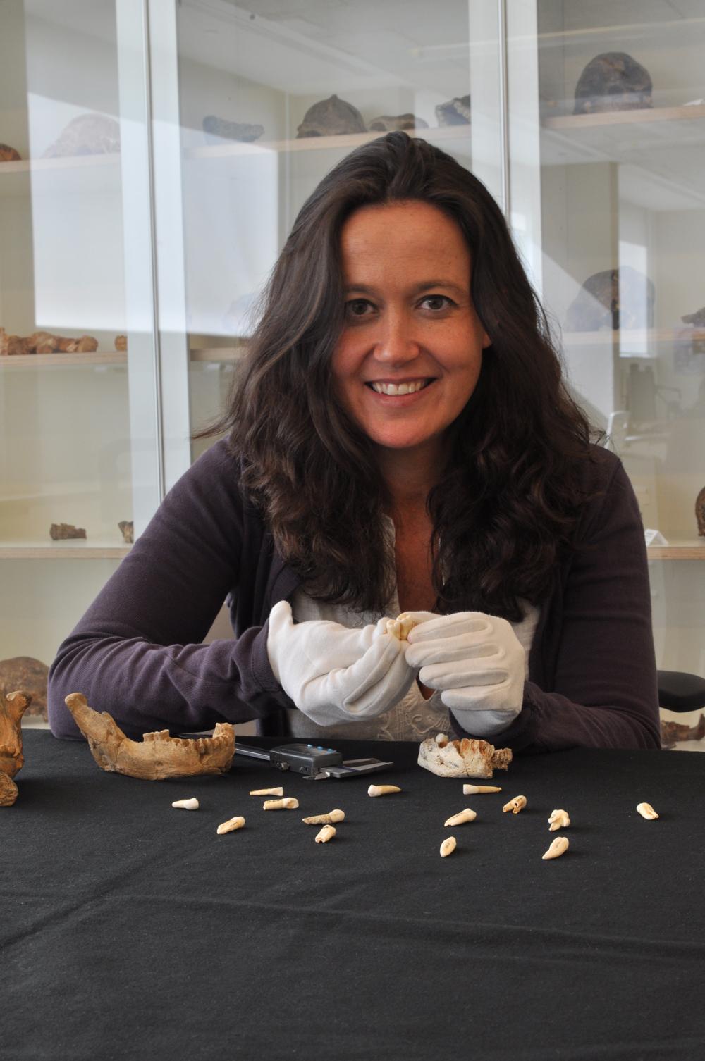 María Martinón, en su laboratorio.