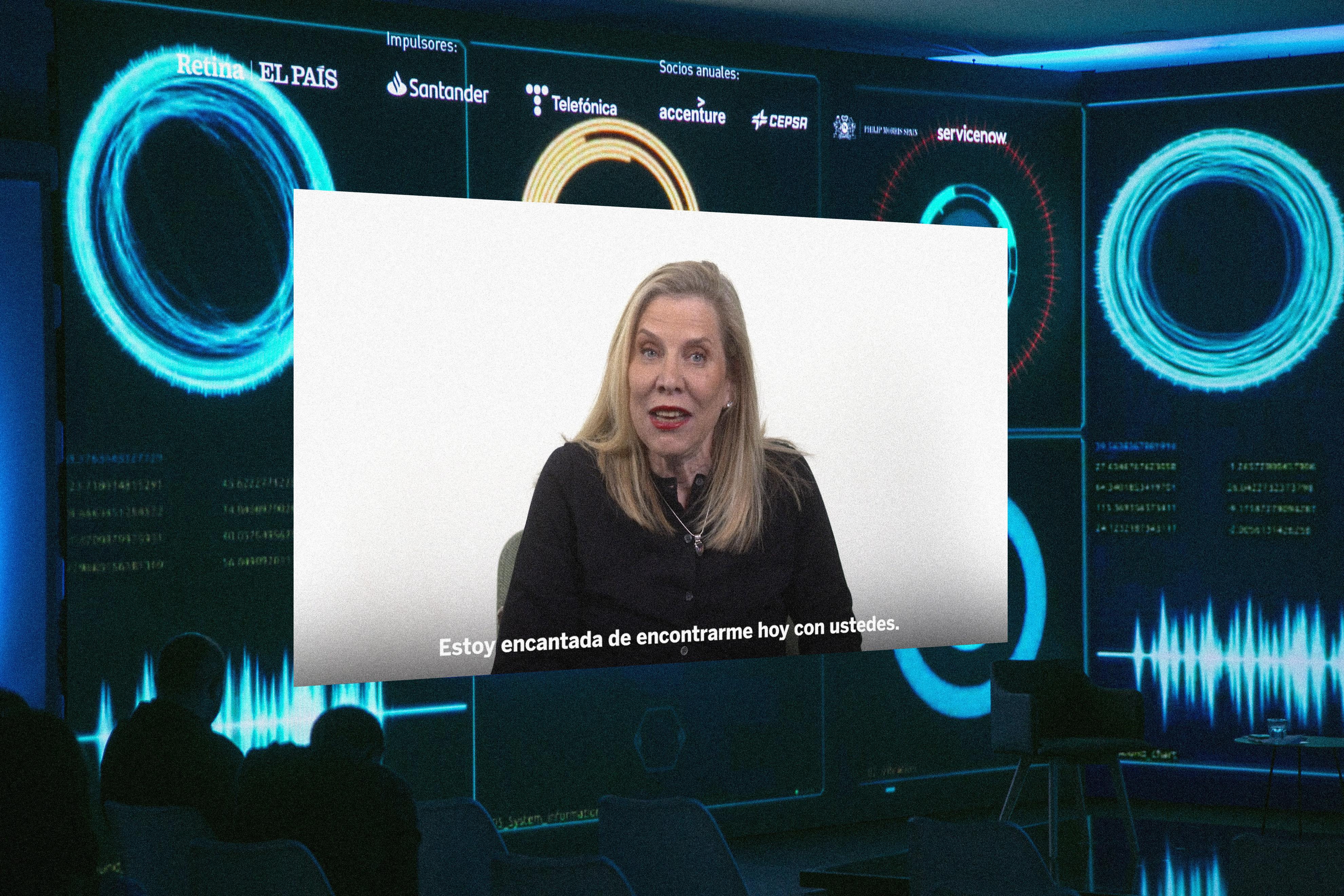 Marian Salzman, vicepresidenta 'senior' de comunicación global de Philip Morris International (PMI), participa por vídeo en el foro Retina SQL.