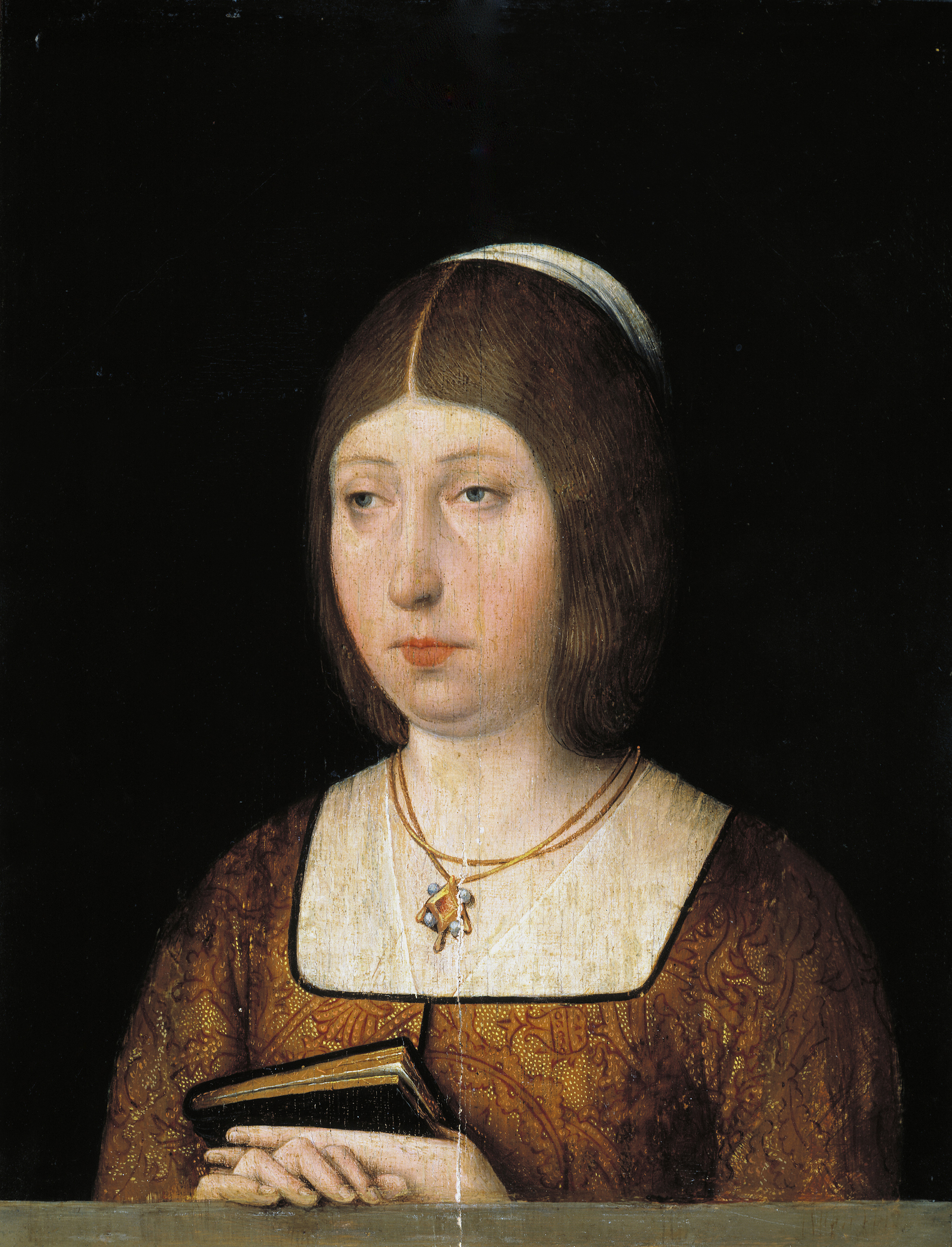 Portrait of Isabel la Católica, by anonymous author, which is in the Prado Museum.  The painting was made around 1490, when he already had Sancho Paredes de Guzmán at his service.