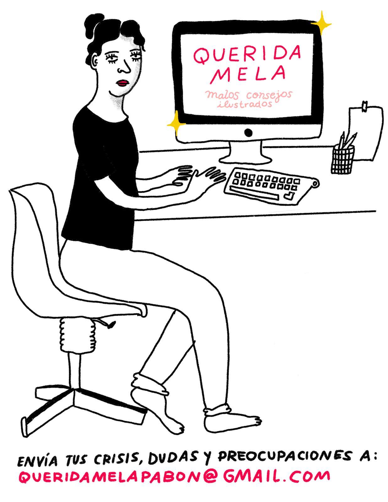 Ilustración de Mela Pabón para el consultorio de 'Querida Mela' en EL PAÍS