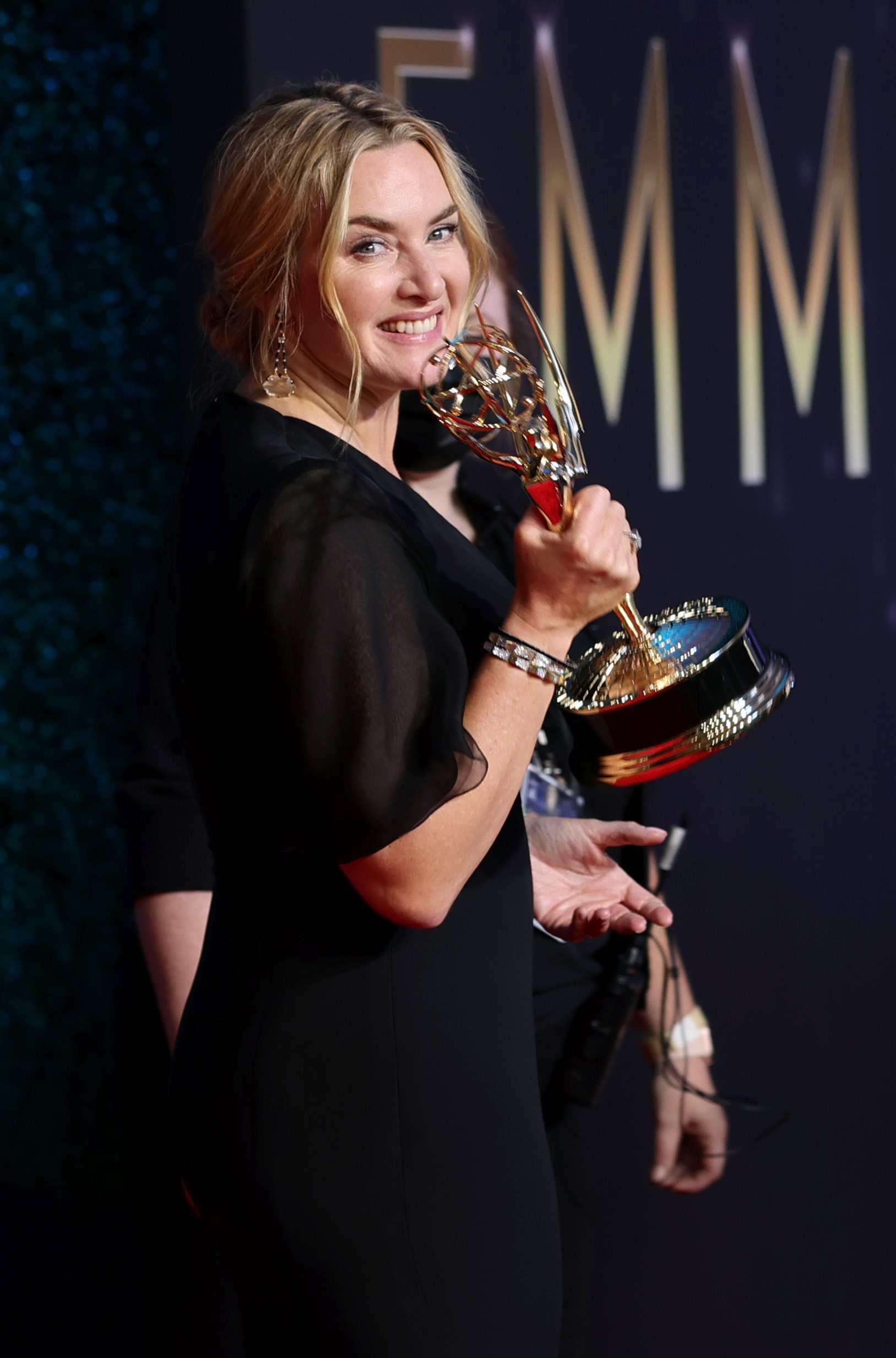 LOS ANGELES, CALIFORNIA - SEPTEMBER 19: Kate Winslet, winner of the Outstanding Lead Actress in a Limited or Anthology Series or Movie award for 'Mare Of Easttown,' poses in the press room during the 73rd Primetime Emmy Awards at L.A. LIVE on September 19, 2021 in Los Angeles, California. Rich Fury/Getty Images/AFP == FOR NEWSPAPERS, INTERNET, TELCOS & TELEVISION USE ONLY ==