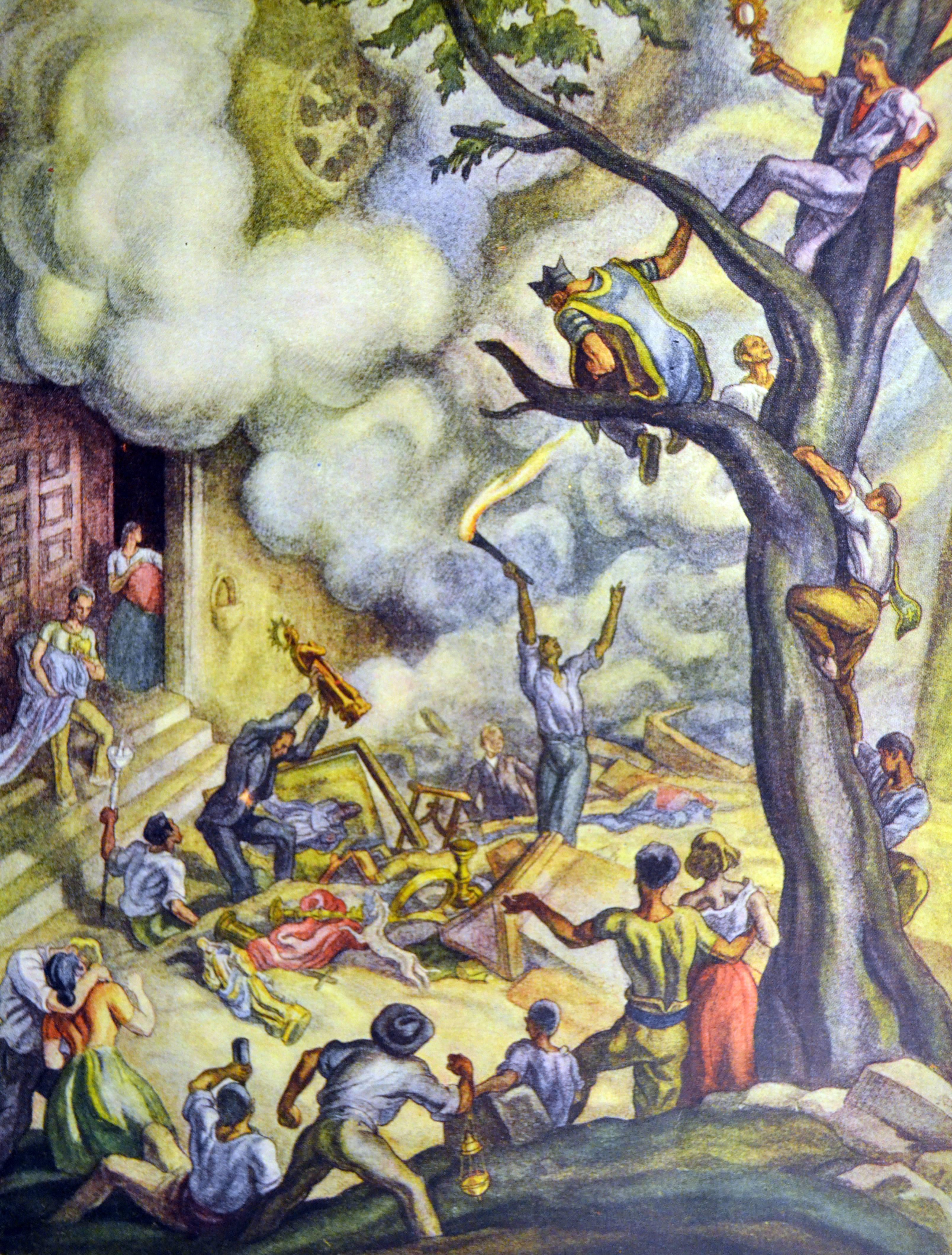 'Spanish civil war: burning convents', by Carlos Sáenz de Tejada.