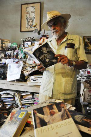 O historiador Enrique López Oliva, em Havana.
