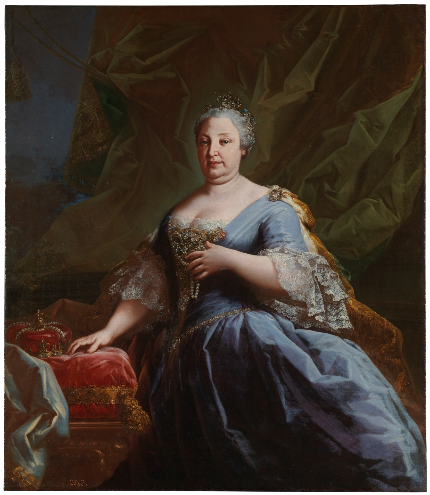 Bárbara de Braganza, reina de España. Anónimo. Museo del Prado.