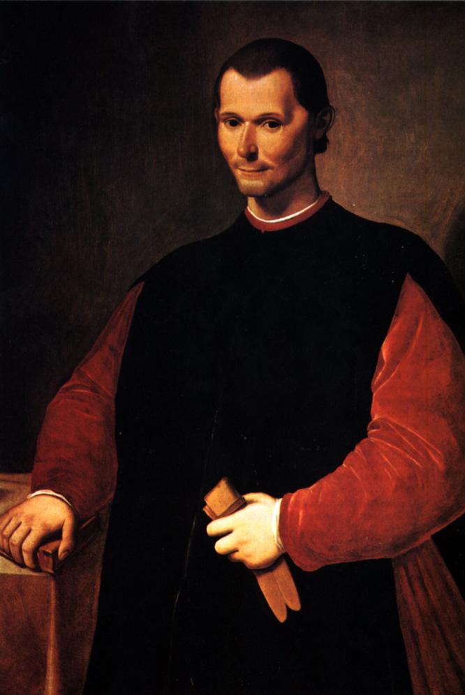 Retrato de Maquiavelo, autor El príncipe y Discursos sobre Livio, de Santi di Tito.