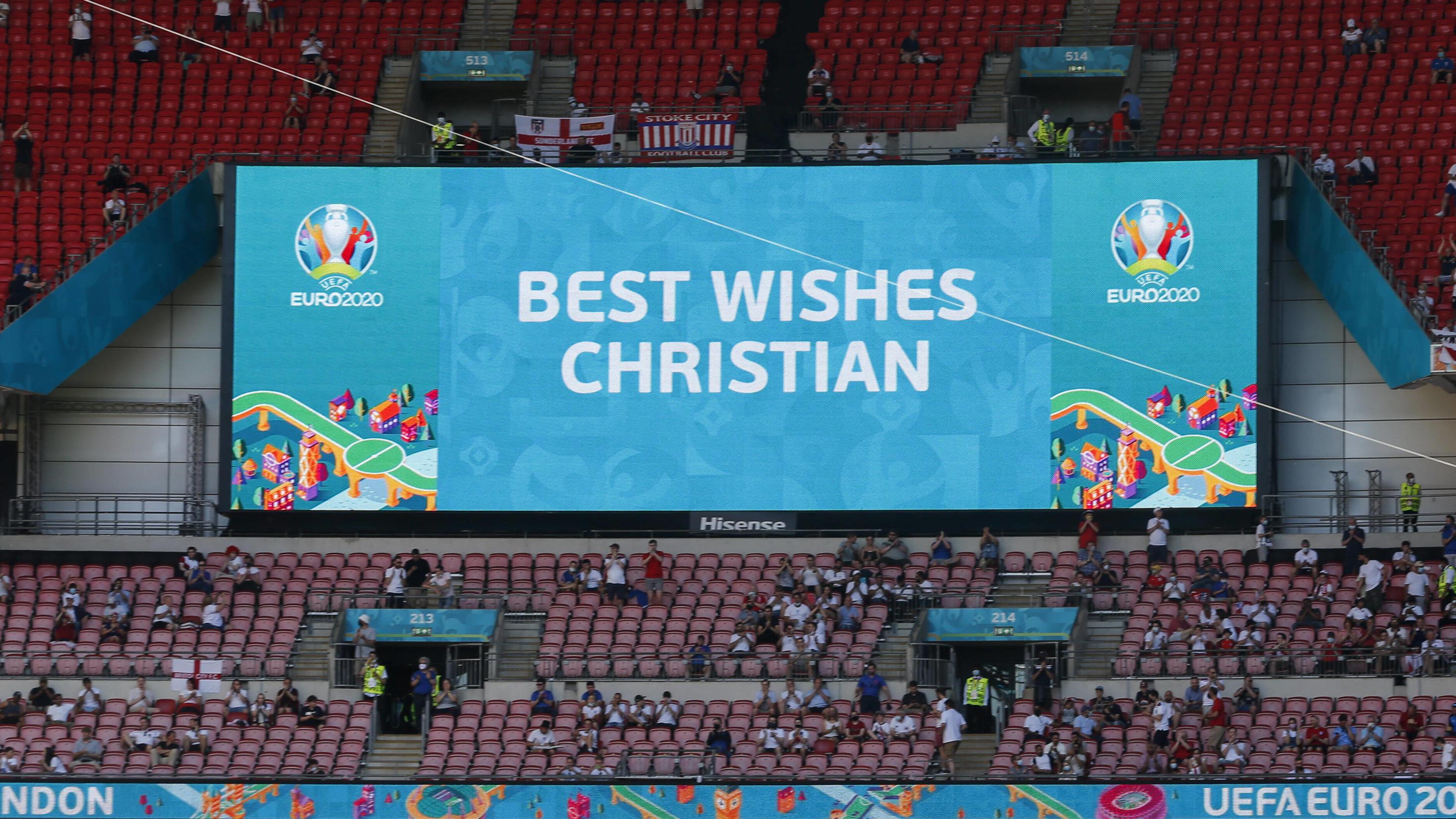 Euro 2021: Dänen nach Eriksen-Besuch erleichtert: Gefühl