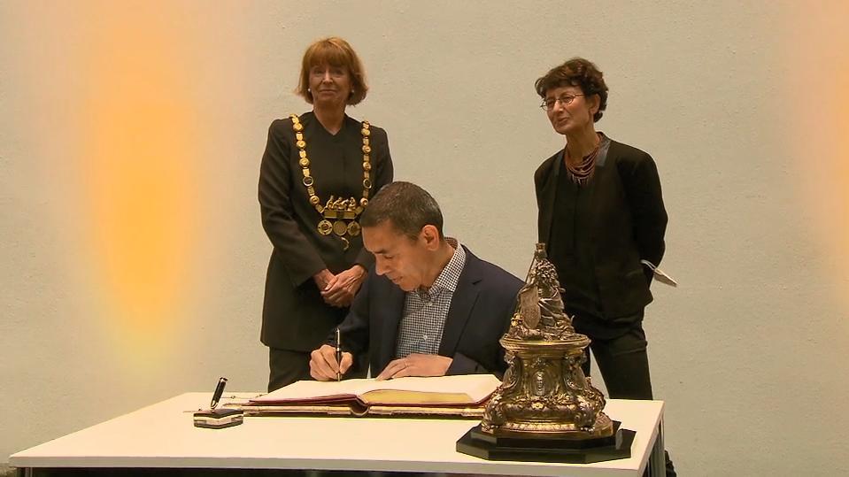 Goldenes Buch der Stadt: Biontech-Gründer in Köln geehrt