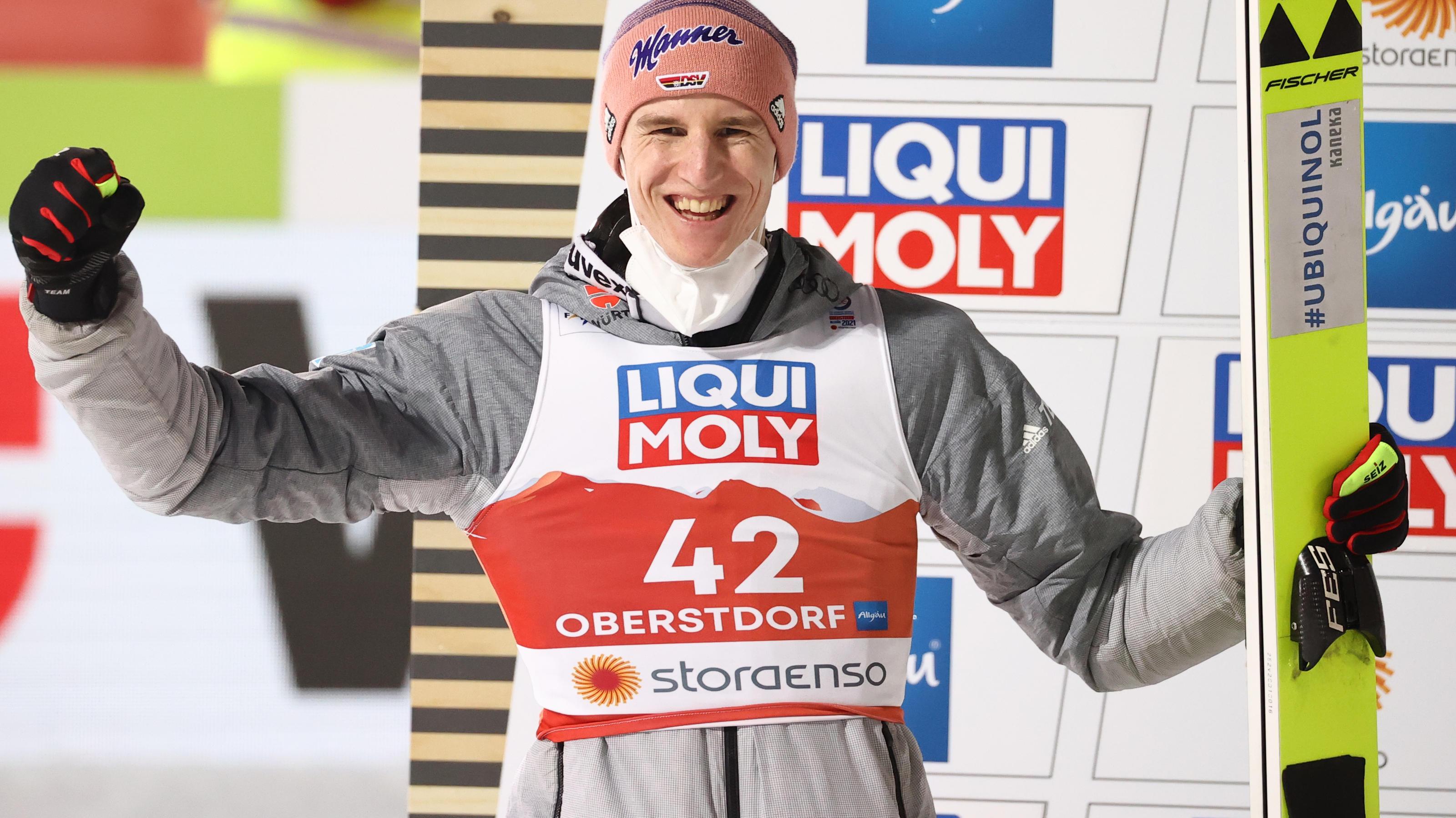 Heim-WM in Oberstdorf: Karl Geiger fliegt zu Silber und holt erste Medaille für den Deutschen Ski-Verband