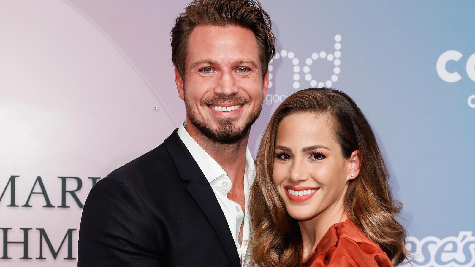 Bachelor-Paar Sebastian und Angelina Pannek: Seltener Auftritt auf dem roten Teppich