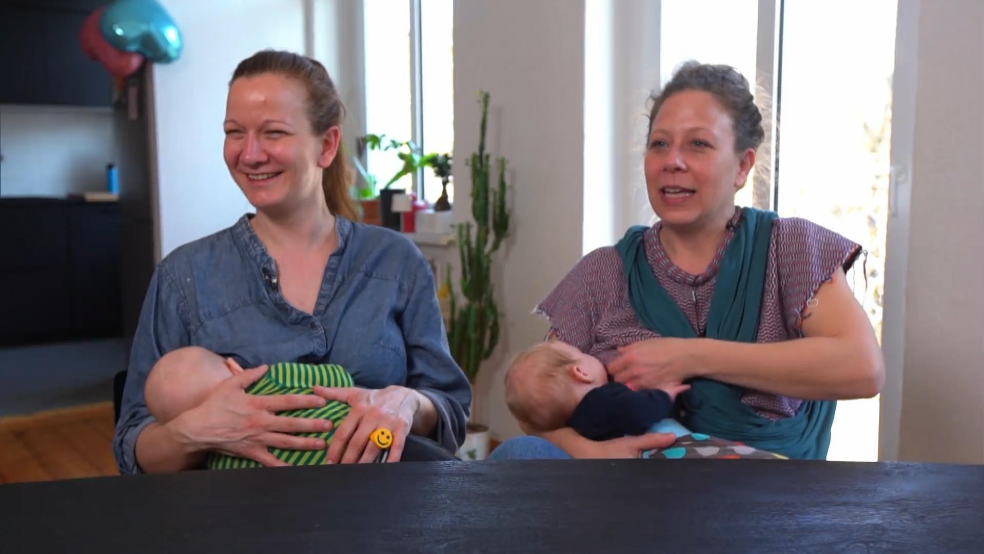 Stillen ohne Schwangerschaft: Bisexuelles Paar nutzt