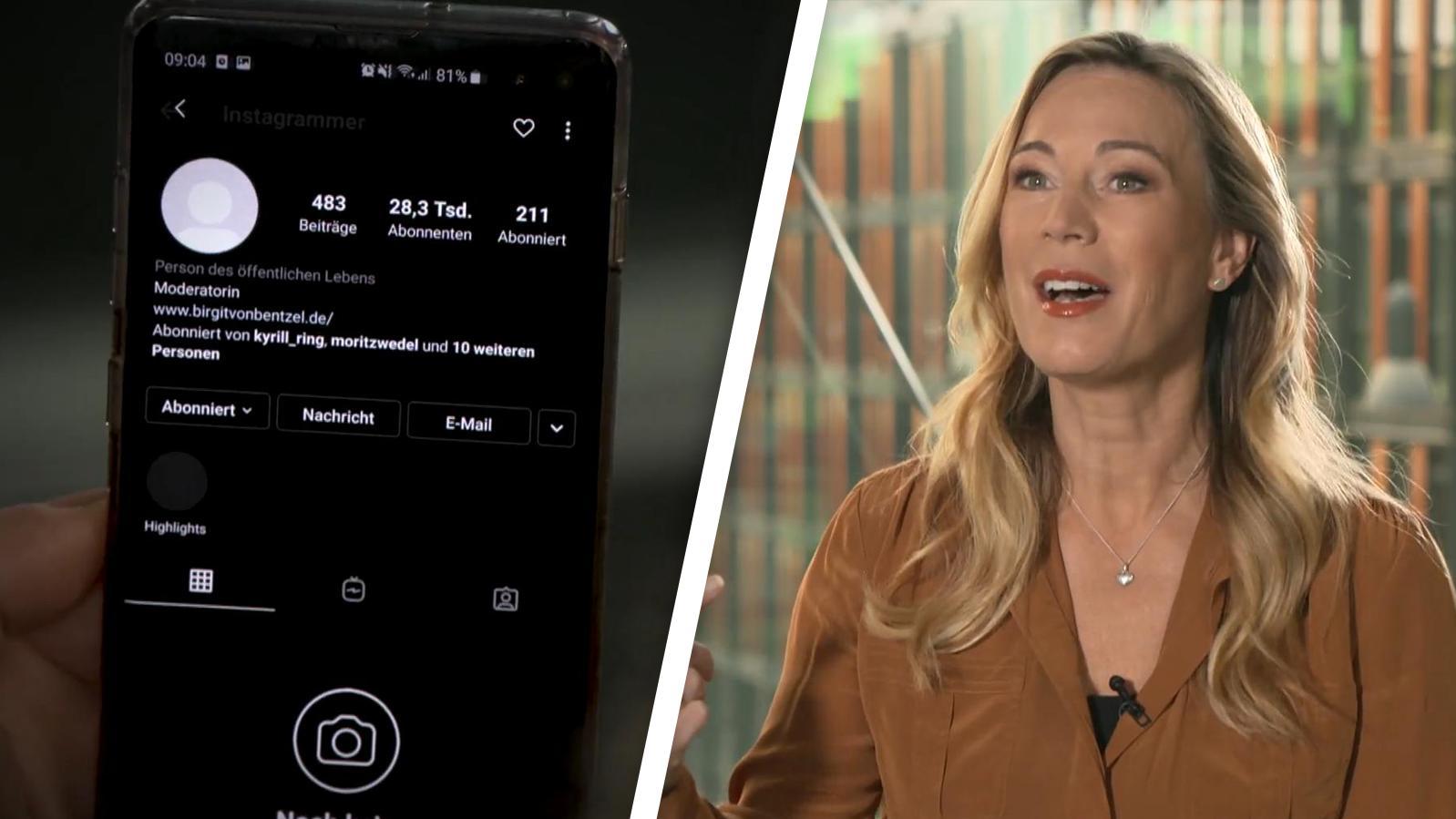 Dreiste Erpressung! Instagram-Account von RTL-Moderatorin Birgit von Bentzel gehackt