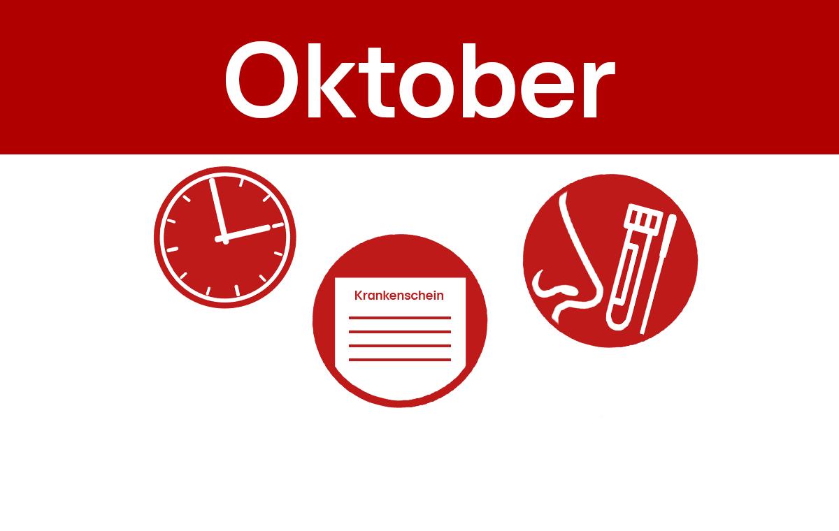 Schnelltests, Gaspreis, Zeitumstellung - Was sich im Oktober für Sie ändert