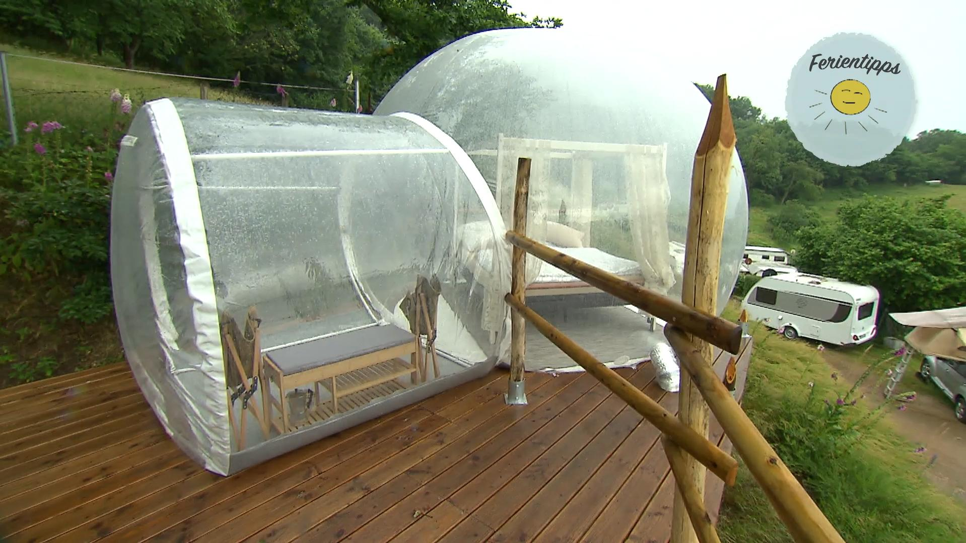 "Lindenfels: Camping in der durchsichtigen Kugel ""Bubbletent"""