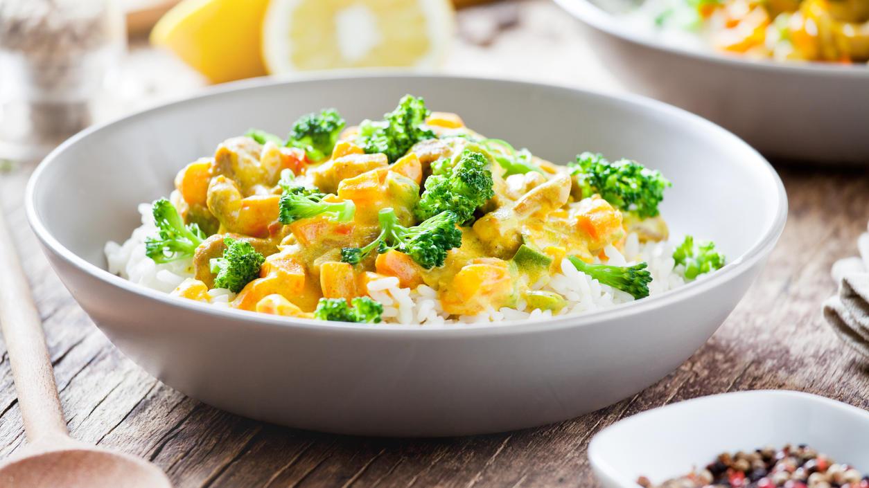 Blitz-Rezept aus Punkt 12: Mildes Süßkartoffel-Kokos-Curry