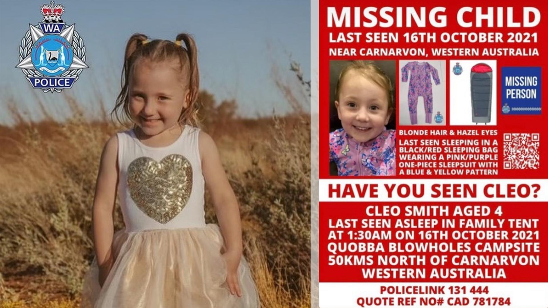 Australien: Suche nach vermisster Cleo – Mutter postet herzzerreißende Nachricht an ihre Tochter
