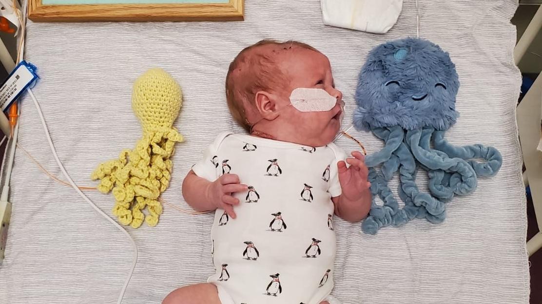 Dramatische Geburt nach Messerattacke: Frühchen Theodore darf endlich nach Hause
