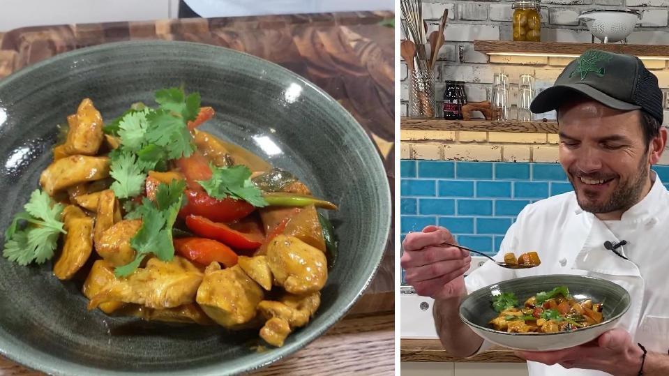 """Rezept von Steffen Henssler: Hähnchen-Curry-Pfanne """"Bombay Style"""""""