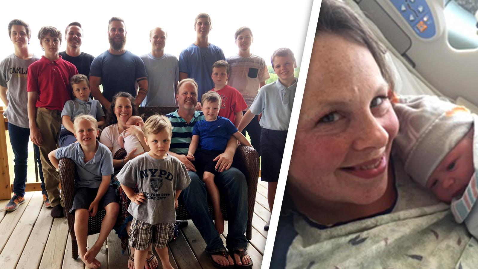 Endlich ein Mädchen: Eltern von XXL-Familie mit 14 Jungs