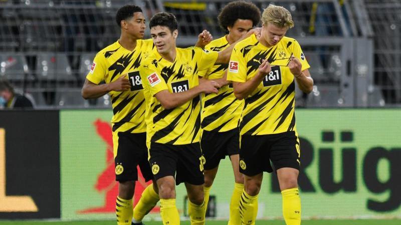 Dortmund gewinnt gegen Gladbach: Haaland erzielt Doppelpack
