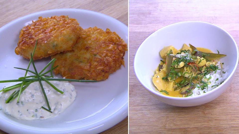 Schnelle Rezepte: Blumenkohl-Curry und Blumenkohl-Nuggets