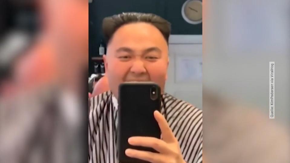 Video: Friseur macht Mann Diktator-Frisur – doch der reagiert ganz anders als erwartet