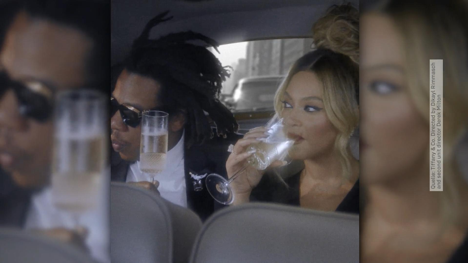 Witziger Clip: Beyoncé und Jay-Z machen (Schampus-)Frühstück bei Tiffany
