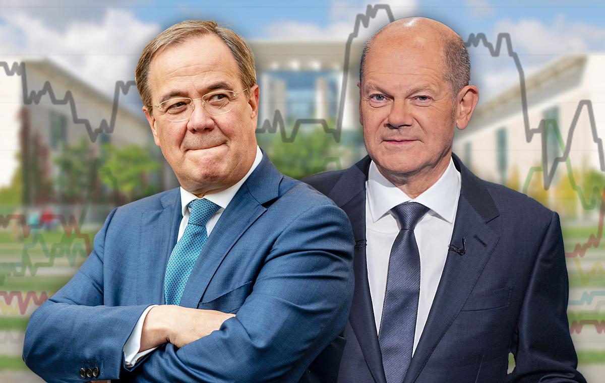 RTL/ntv-Trendbarometer 5 Tage vor Wahl - Vorsprung schmilzt! Laschet kommt Scholz immer näher